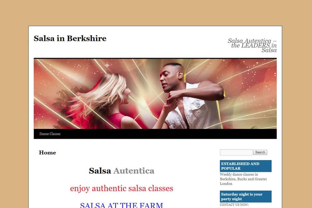 Screenshot of Cuban Salsa website