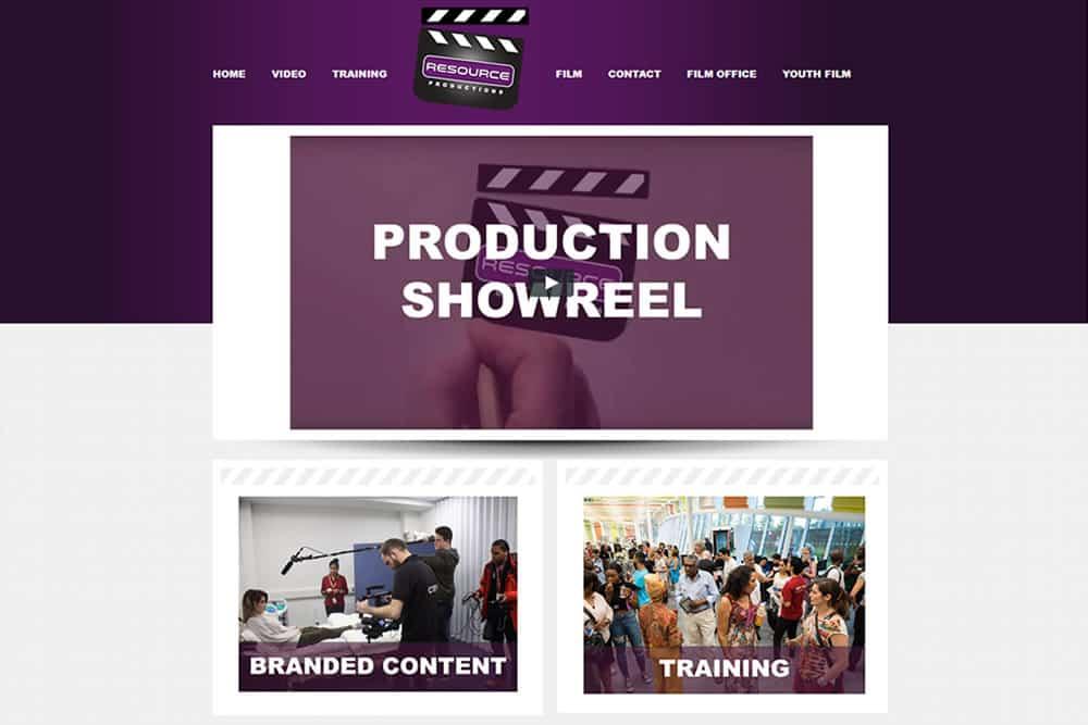 Screenshot of resource-productions.co.uk